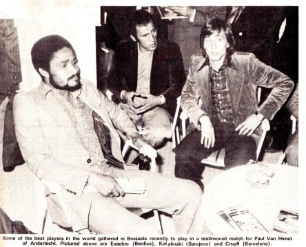 Eusebio, Kalatinski & Cruyff 1975