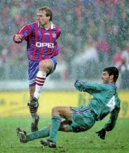 Klinsmann v Guardiola, 1996 UEFA semi-final in Munich