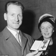 Tom Finney receives his OBE, 1961