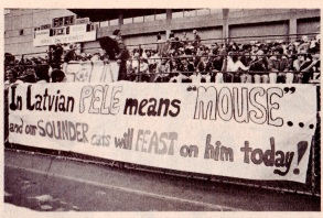 Seatle Sounders banner, 1977