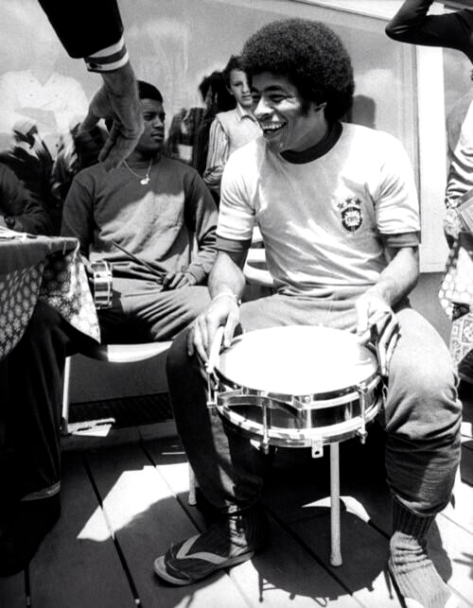 Jairzinho on the drums, World Cup 1974