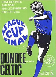 1973 Scottish League Cup Final programme