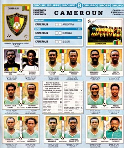 World Cup 1990 Cameroon