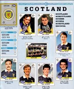 World Cup 1990 Scotland 1