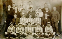 1918 - Blyth Spartans with fans after winning the Munitionettes' Cup