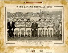 Third Lanark calendar December 1962