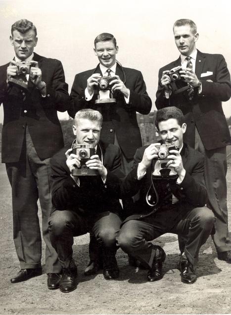 Third Lanark players depart on their North American Tour 1961