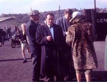 Third Lanark Players & wives in Cathkin Park
