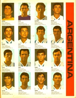 World Cup 1966 FKS Album: Argentina