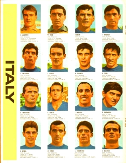 World Cup 1966 FKS Album: Italy