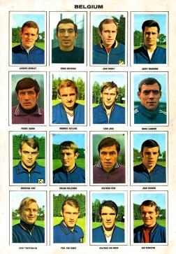 World Cup 1970 FKS Album: Belgium