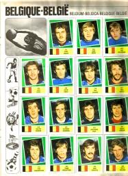 World Cup 1978 FKS Album: Belgium