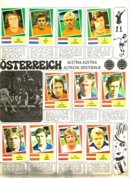 World Cup 1978 FKS Album: Netherlands & Austria