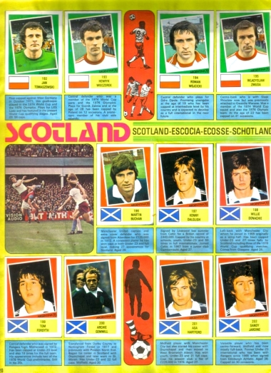 World Cup 1978 FKS Album: Poland & Scotland