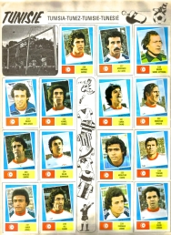 World Cup 1978 FKS Album: Tunisia