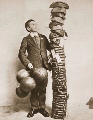 Balls made for entertaining the troops on the western front, 1916