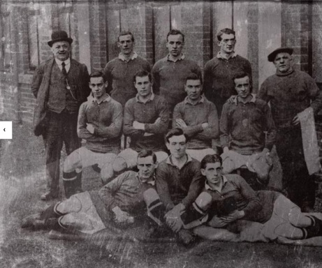 Hearts players in the Footballer Battalion, 1915