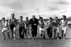 Third's manager Alex Young takes pre-season training, 1959