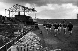New stand construction at Cathkin Park, Third Lanark 1962