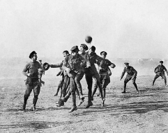 WW1 football game in no-man's land, 1914