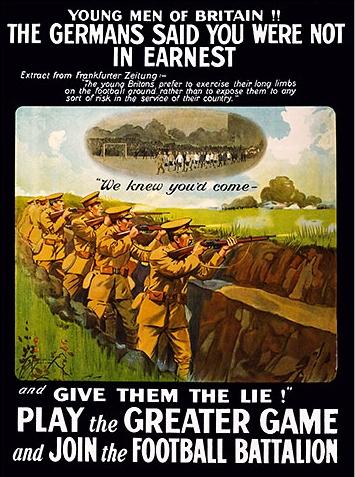 WW1 football recruitment poster, 1916