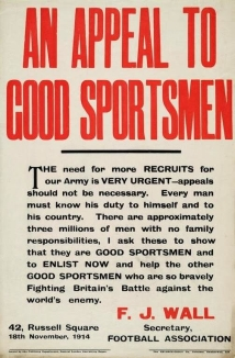 WW1 footballer recruitment appeal, 1914