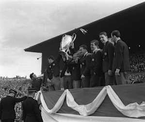Parading the European Cup at Parkhead
