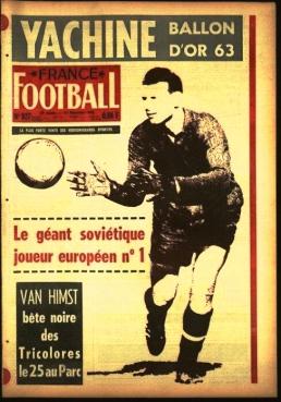 France Football cover 1963, Lev Yashin