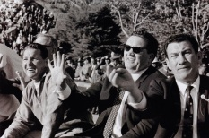 Jock Stein gesticulating from the Celtic bench