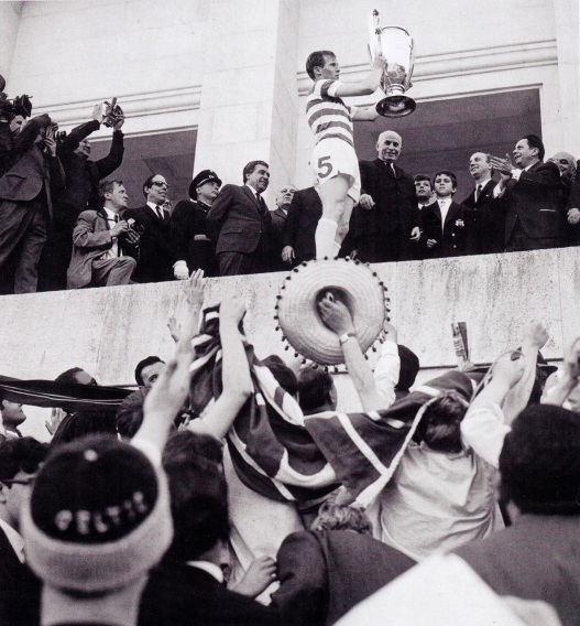 Billy McNeill presented with the trophy