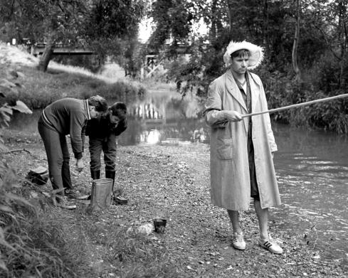 Lev Yashin fishing, 1964