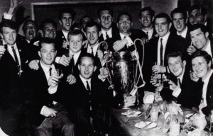 Celtic players attend a celebratory banquet