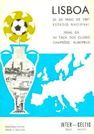 1967 European Cup Final match programme
