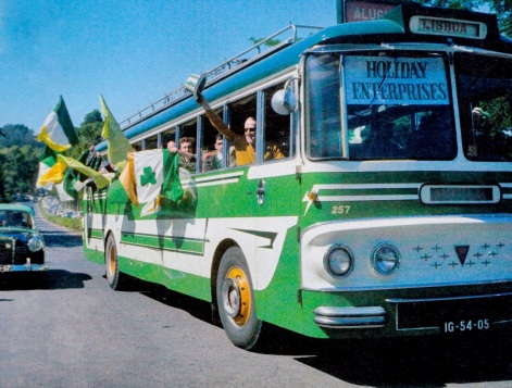 Celtic Supporters coach en route to the stadium