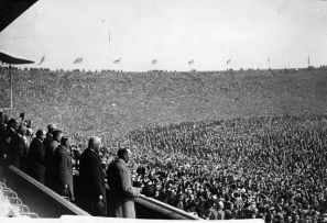 View from the Royal Box, West Ham v Bolton 1923 FA Cup Final