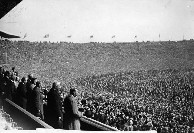 View from the Royal Box, West Ham v Bolton 1923 FA Cup Final ...