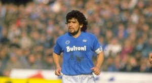 Diego Maradona of Napoli SSC