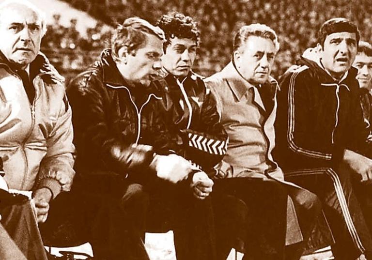 Mircea Lucescu while coaching Corvinul Hunedoara