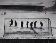 1948 - clearing snow at White Hart Lane, Tottenham