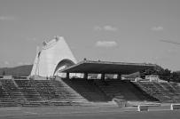 FRANCE - Stade Municipal de Firminy. Designed by Charles-Édouard Jeanneret-Gris (Le Corbusier)