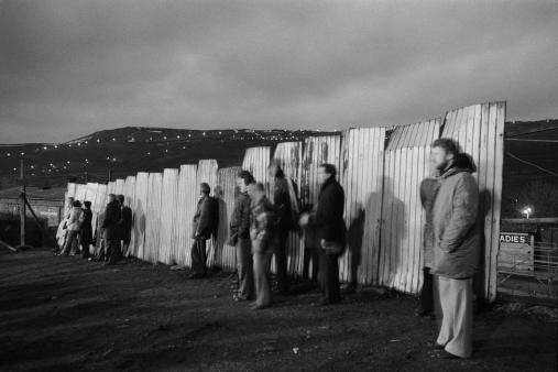 Halifax Town FC, spectators watching the game, 1978 (Martin Parr)