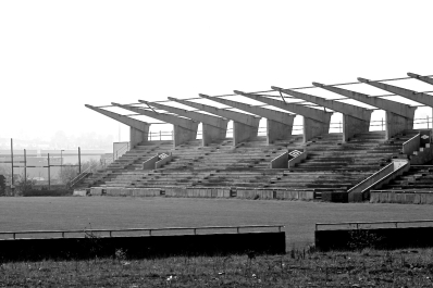 IRELAND - East Stand construction, Tallaght Stadium (or Staid Thamhlachta), South Dublin Used by Shamrock Rovers -