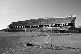 ITALY - Giarre Stadium, Sicily. Abandoned before completion.