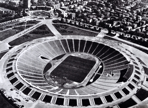 POLAND - Stadion Dziesięciolecia (or 10th Anniversary Stadium), Warsaw 1950. Abandoned 1983 and demolished 2008