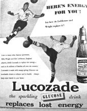 Billy Wright & Nat Lofthouse, Lucozade advert