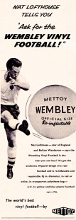 Nat Lofthouse, Wembley vinyl ball 1959