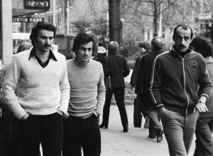 Dinamo Tblisi players in London v West Ham 1981
