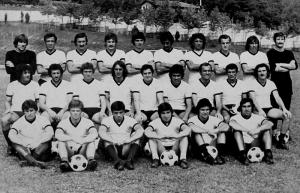 Cesena 1976-77 squad during pre-season photocall