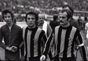 Inter Milan's Roberto Boninsegna & Sandro Mazzola 1973