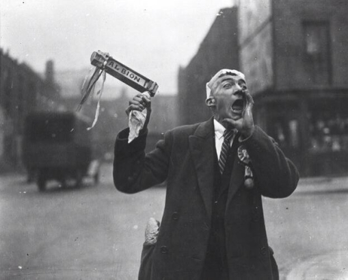 1935 - A vocal West Brom fan before the FA Cup Final v Sheffield Wednesday